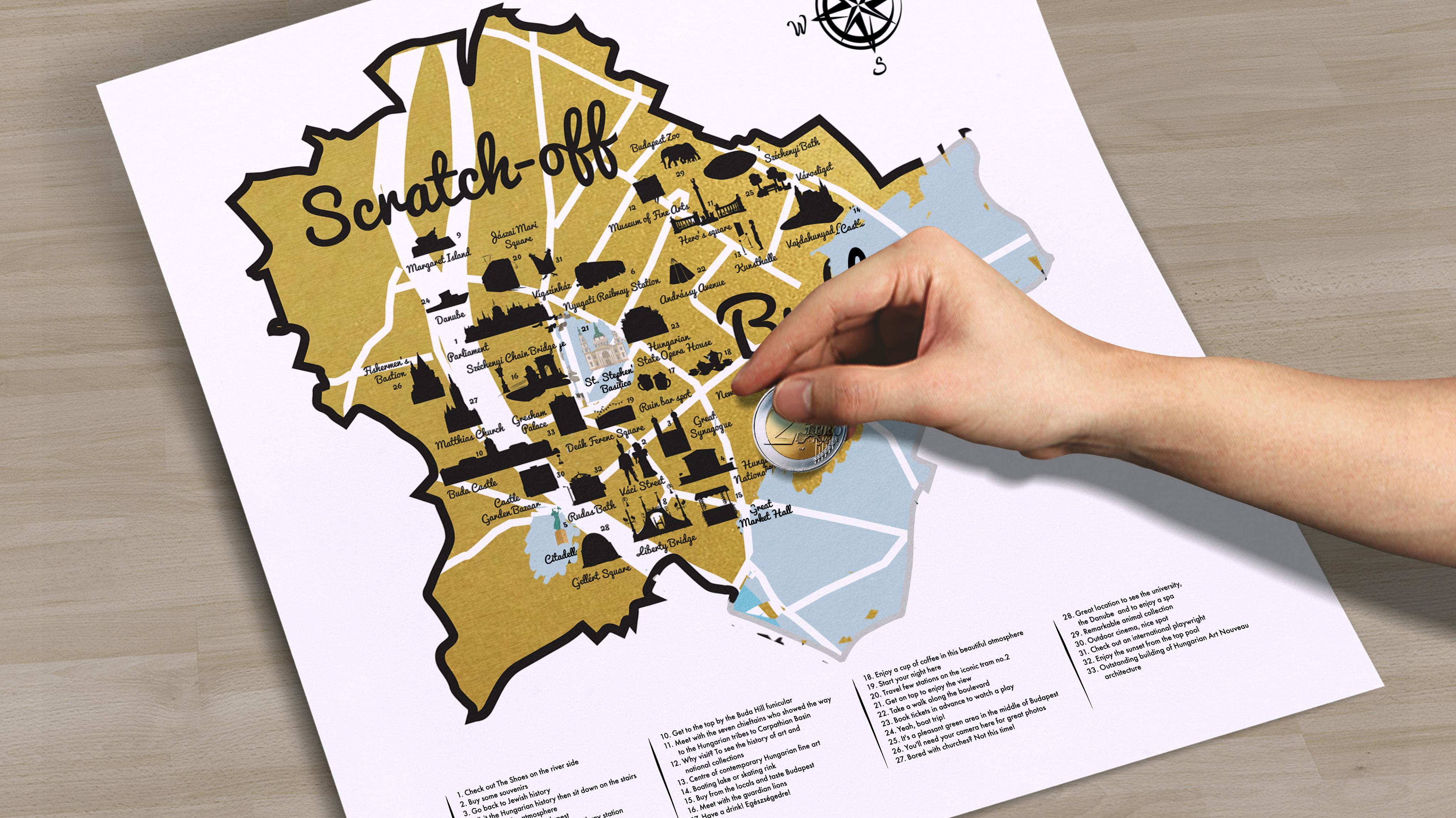 buapest térkép Scratch off Budapest map – maGma